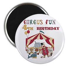 Circus Fun 4th Birthday Magnet