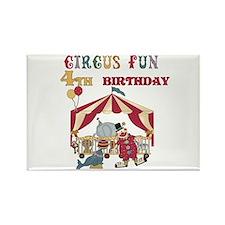 Circus Fun 4th Birthday Rectangle Magnet