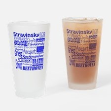 Classical Composers Drinking Glass
