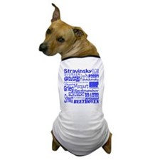 Classical Composers Dog T-Shirt