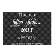 This is a tattoo studio N Postcards (Package of 8)