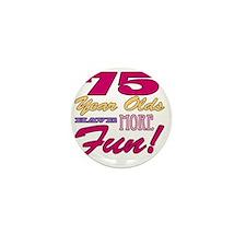 Fun 75th Birthday Gifts Mini Button