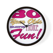 Fun 80th Birthday Gifts Wall Clock