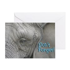 Dont Forget Elephant Magnet Greeting Card