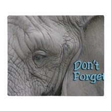 Dont Forget Elephant Magnet Throw Blanket