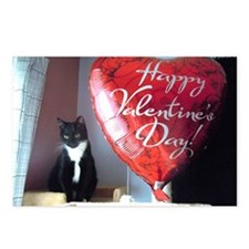 Valentines kitty Postcards (Package of 8)