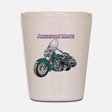 harley davidson Panhead motorcycle draw Shot Glass