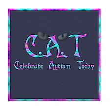 Celebrate Autism Today Tile Coaster