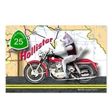 Siberian Husky Riding a H Postcards (Package of 8)