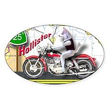 Siberian Husky Riding a Harley Moto Decal