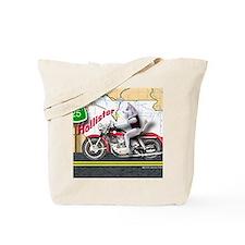 Siberian Husky Riding a Harley Motorcycle Tote Bag