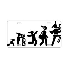 Marching-Band---Saxophone-A Aluminum License Plate