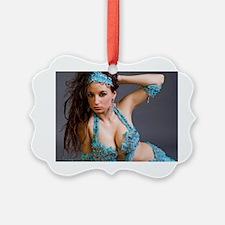Baby Blue Bellydance Ornament