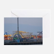 Seaside Heights at Night Greeting Card