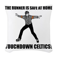 Touchdown Celtics Woven Throw Pillow