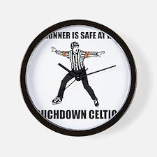 Touchdown Celtics Wall Clock