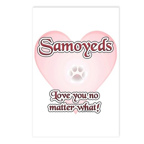 Samoyed Love U Postcards (Package of 8)