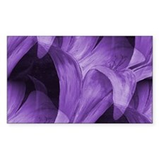 Purple Abstract Lily Decal