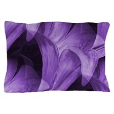 Purple Abstract Lily Pillow Case