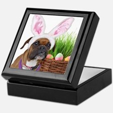 Easter Boxer Dog Keepsake Box