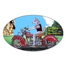Siberian Husky Riding Indian Motorc Decal