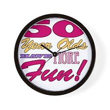 Fun 50th Birthday Gifts Wall Clock