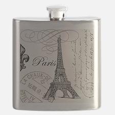 Vintage Paris Eiffel Tower Flask