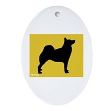 Buhund iPet Oval Ornament