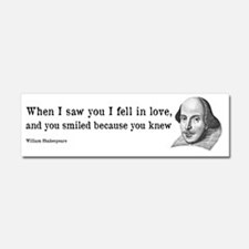 Shakespeare on Love (Hamlet) Car Magnet 10 x 3