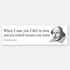 Shakespeare on Love (Hamlet) Bumper Bumper Sticker