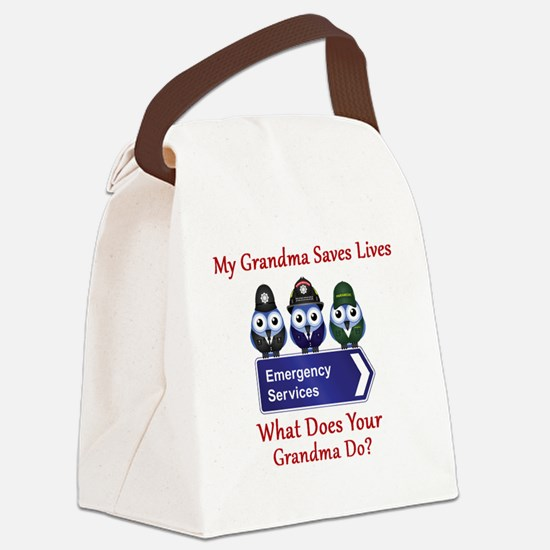What Does Your Grandma Do? Canvas Lunch Bag