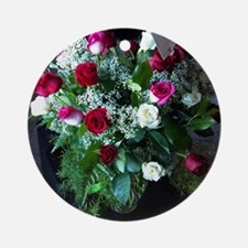 Roses for your Sweet Round Ornament