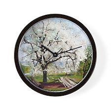 Carl Fredrik Hill Flowering Fruit Tree Wall Clock