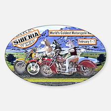 Siberian Husky Siberia Bike Week Ma Decal