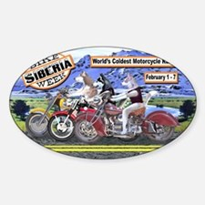Siberian Husky Siberia Bike Week Ma Sticker (Oval)
