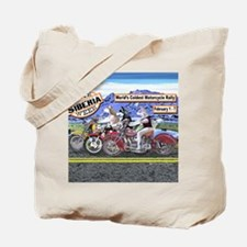 Siberian Husky Siberia Bike Week Magnet Tote Bag
