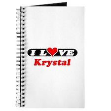 I Love Krystal Journal