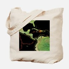 2010 Haiti earthquake, tectonic plates Tote Bag