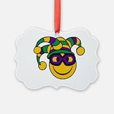 Mardi Gras Smiley Ornament