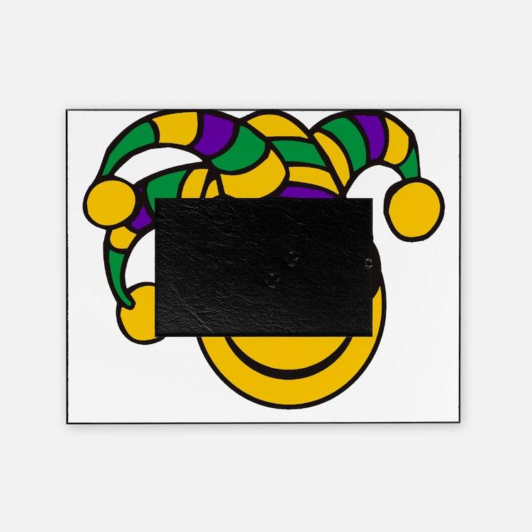 Mardi Gras Smiley Picture Frame