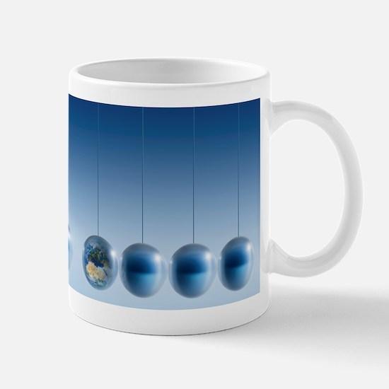 Newtonian Earth, conceptual artwork Mug