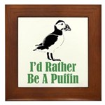 Rather Be A Puffin Framed Tile