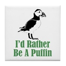 Rather Be A Puffin Tile Coaster