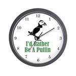 Rather Be A Puffin Wall Clock (w/numbers)