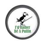 Rather Be A Puffin Wall Clock (w/out numbers)