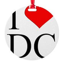 I Love DC Ornament