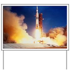 Launch of Apollo 11 spacecraft en route  Yard Sign