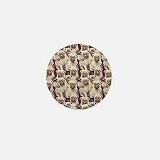pug mural Mini Button