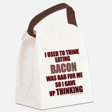 I USED TO THINK BACON WAS BAD FOR Canvas Lunch Bag