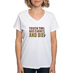 Bass Clarinet:Touch/Die Women's V-Neck T-Shirt